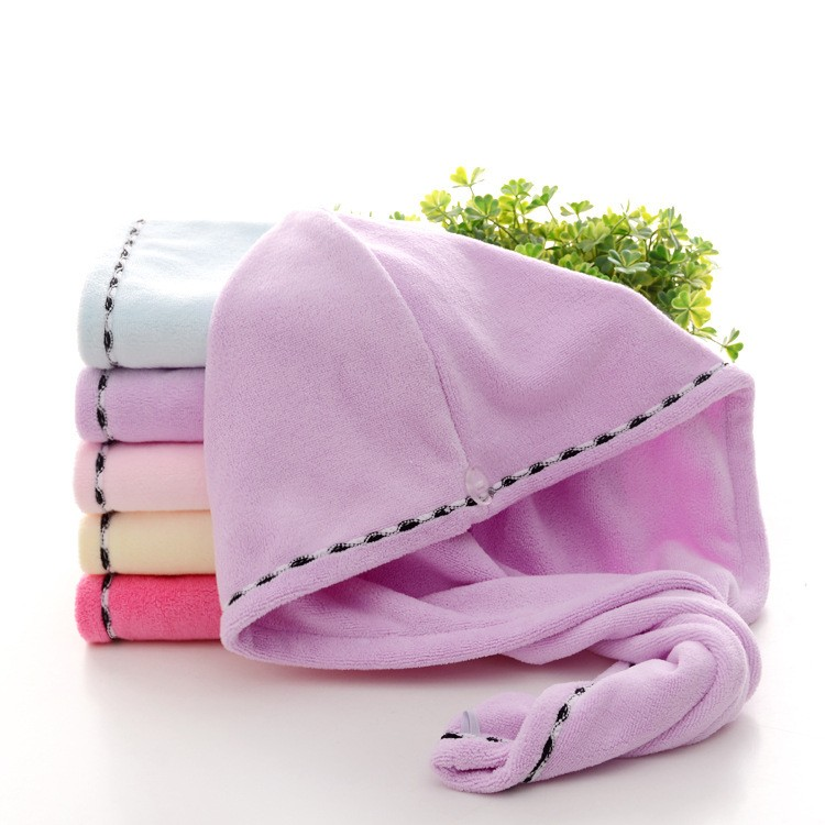 Super Water Absorbency Microfiber Hair Drying Turban Wraps Towel