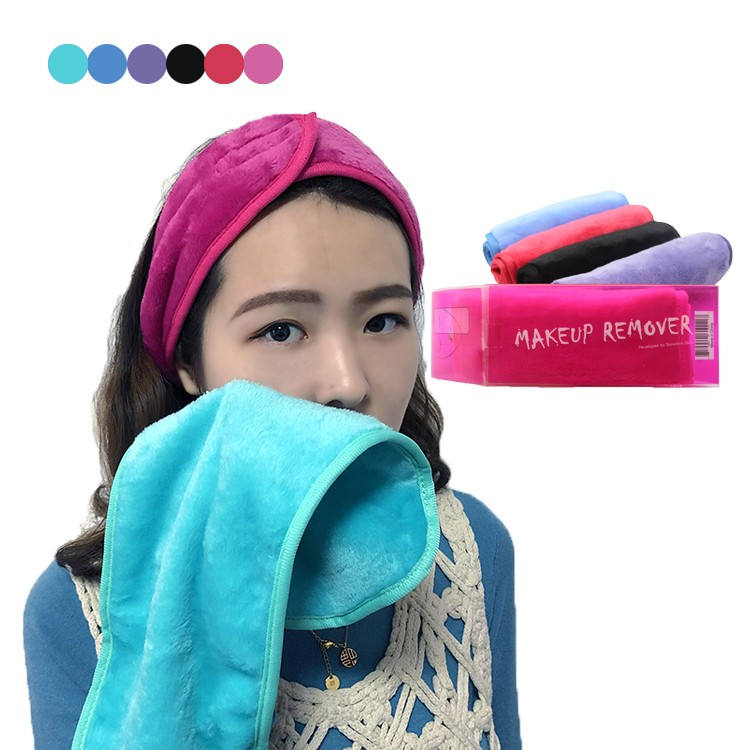 Customized 6 Colors makeup remover towel eraser makeup remover cloth