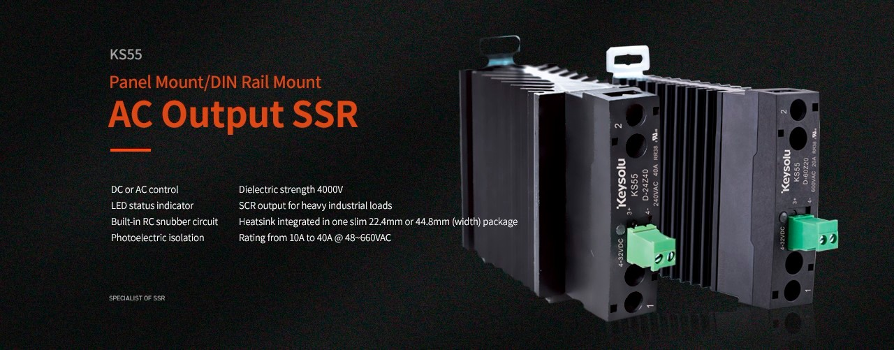 KS55 SSR DIN Rail Mount