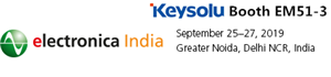 Xiamen Jinxinrong (Keysolu) will Attend Electronica India 2019 in September
