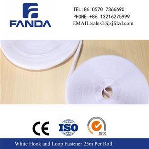 White Hook And Loop Fastener 25m Per Roll