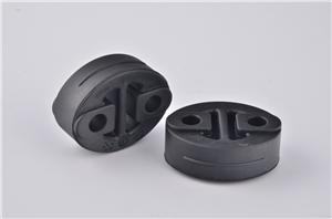 Rubber isolator for exhaust systems