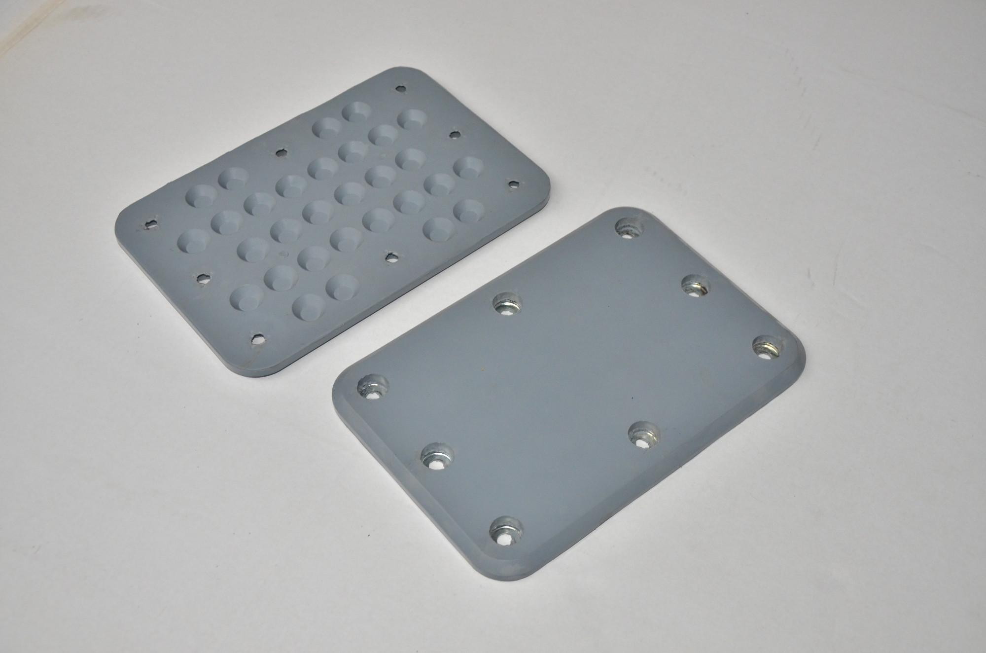 Rubber vulcanizing plate