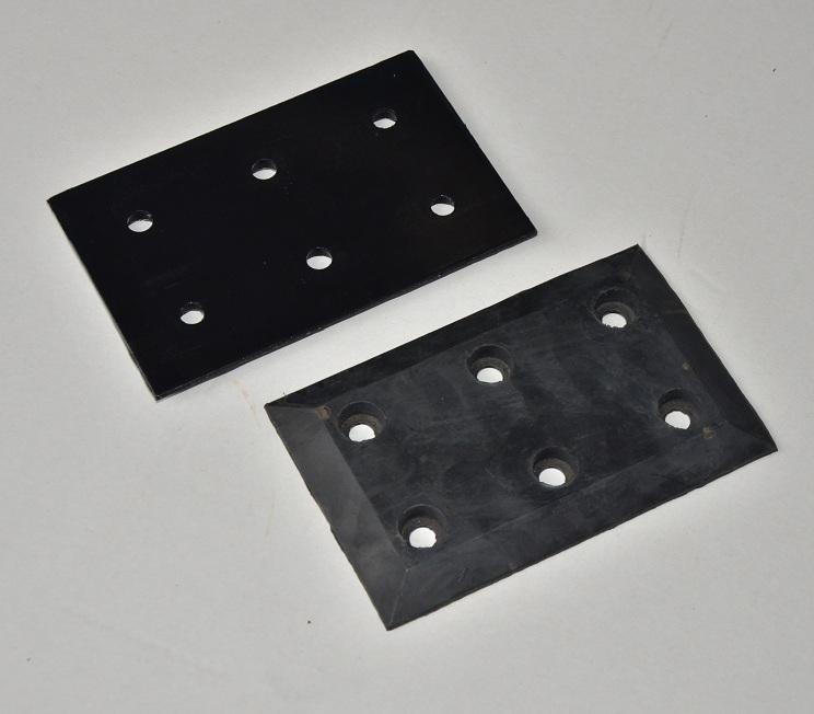 Carton clip rubber splint