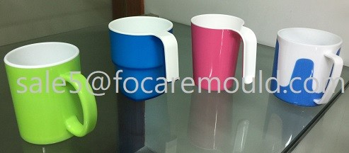 Two-Color Plastic Classical Coffee Cup