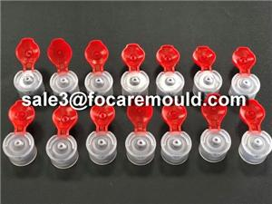 16-cavity 20mm Double Color Flip Top Cap Mould