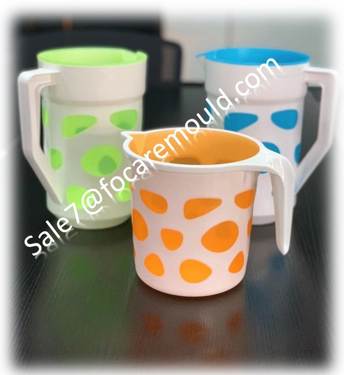 Two-Color Plastic Bucket, Basin, Mug, Jug