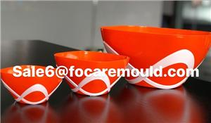 Bow Design Two-Color Bowl Plastic Injection Moulds