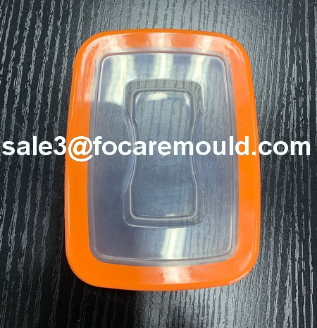 two-color plastic airtight food container