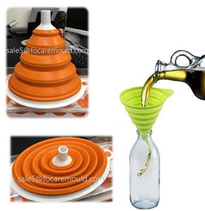 Kitchen Collapsible/Flexible Funnels Two-Color Injection Mold