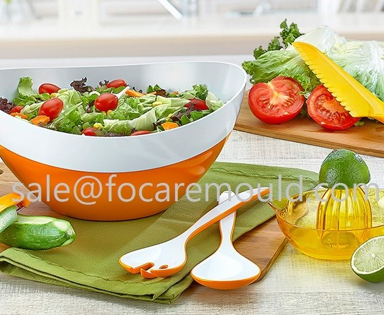 Two-Color Plastic Salad Spoon & Fork Injection Mould