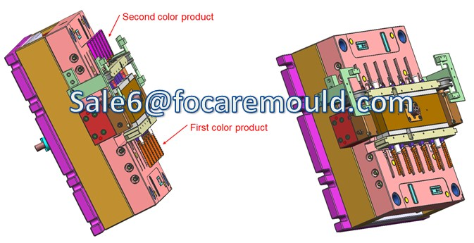 two-color plastic handle injection mold