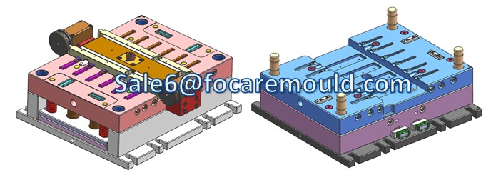 Two-Color Rotary-Axis Plastic Injection Mould