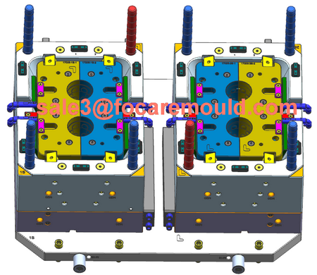 double color plastic cup mould