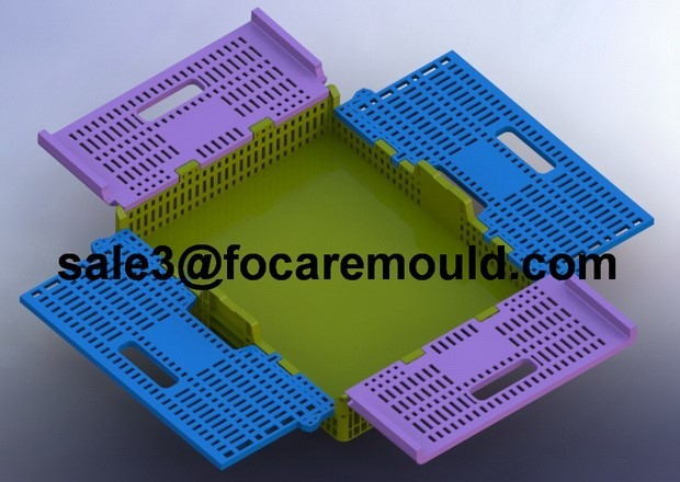 Plastic Foldable Banana Crate Injection Mould