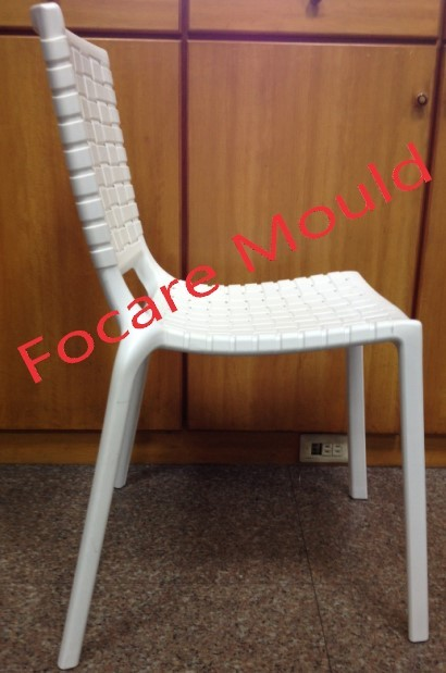 Light Knit Plastic Dining Chair with Gas Assisted Injection