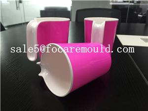 Two-Color Bathroom Mug Plastic Injection Mold
