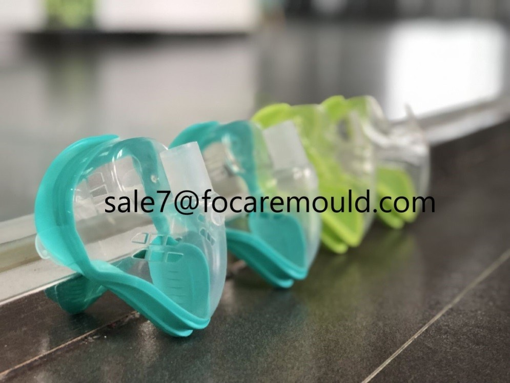Two-color medical oxygen mask plastic injection mould
