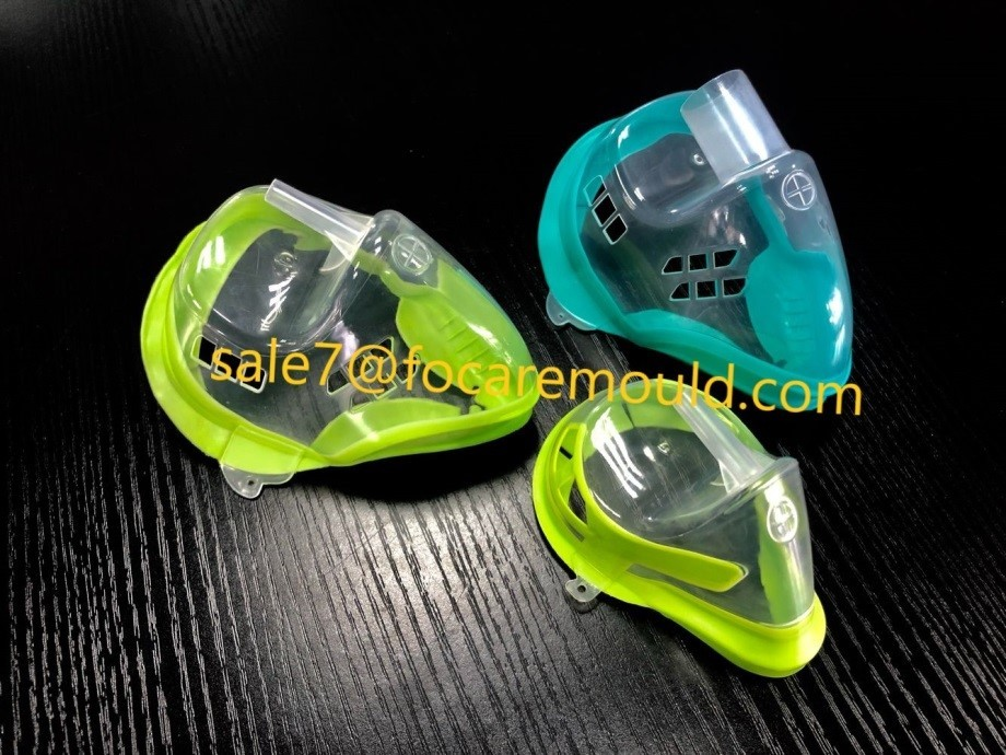 High quality Two-color medical oxygen mask plastic injection mould Quotes,China Two-color medical oxygen mask plastic injection mould Factory,Two-color medical oxygen mask plastic injection mould Purchasing