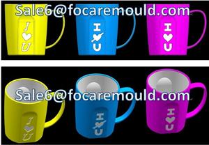 Double Color Romantic Cup Plastic Injection Mould