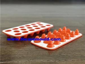 Double Color Plastic Collapsible Ice Cube Tray