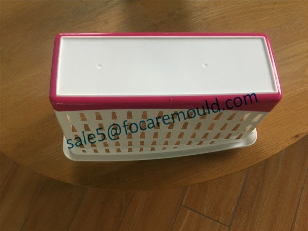 Double Color Stationery Storage Basket Mould