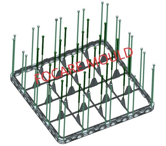 High quality 16 Holes Plastic Dish Rack Injection Mould Quotes,China 16 Holes Plastic Dish Rack Injection Mould Factory,16 Holes Plastic Dish Rack Injection Mould Purchasing