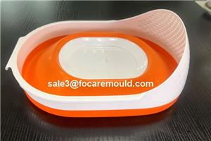 Double Color Rice/Vegetable/Fruit Plastic Strainer Injection Mould