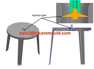 Plastic Garden Table Injection Mould
