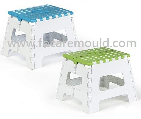 Plastic Foldable Two-Color Stepping Stool Plastic Injection Mould