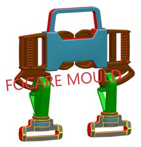 Plastic Buckle of Five-Point Safety Belt Injection Mould