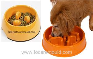 Two-Color Pet Slow Feeder Bowl Plastic Injection Mould