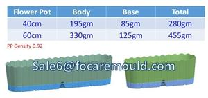 Classical Plastic Flower Pot Injection Mould