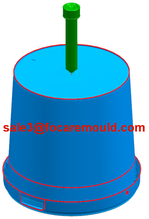 Plastic paint bucket injection mold