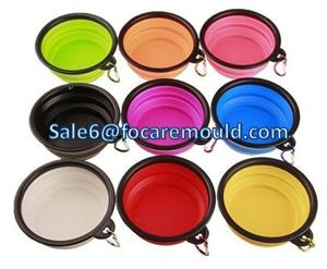 Portable & Collapsible Pet Food & Water Bowl Double Color Plastic Injection mould