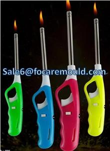 Two-Color plastic Lighter handle Injection Mould