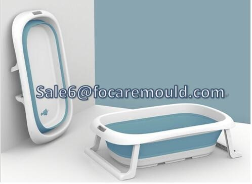 Two-color Plastic Portable & Collapsible Bathtub Injection Mold