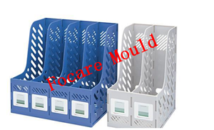 Plastic magazine file injection mold