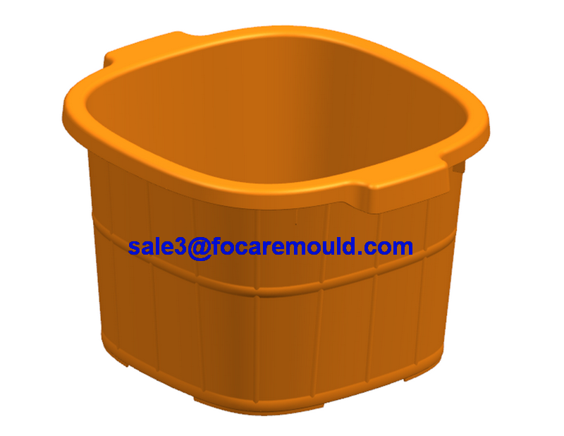 Plastic foot bath bucket injection mold