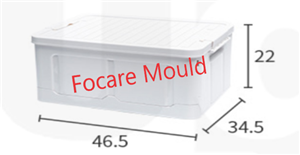 Folding storage box plastic injection mold