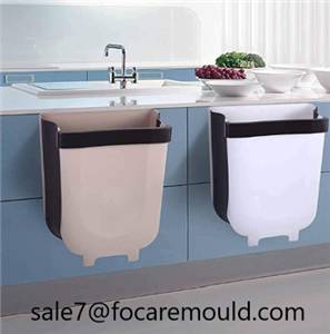 Two-color foldable trash can plastic injection mold