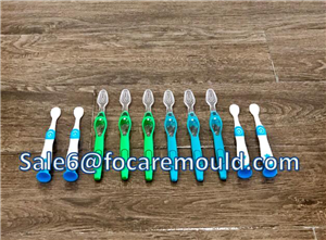 Two-color toothbrush handle plastic injection mould