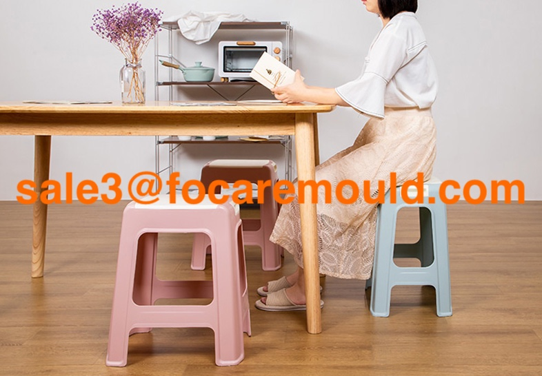Two-color handle stool plastic injection mold