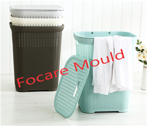 Fantastic plastic rattan laundry basket injection mold
