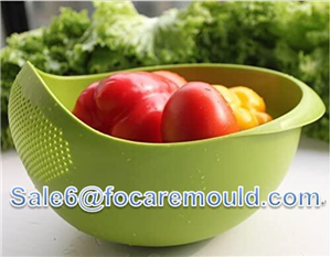 Two-color vegetable washing basket plastic injection mold