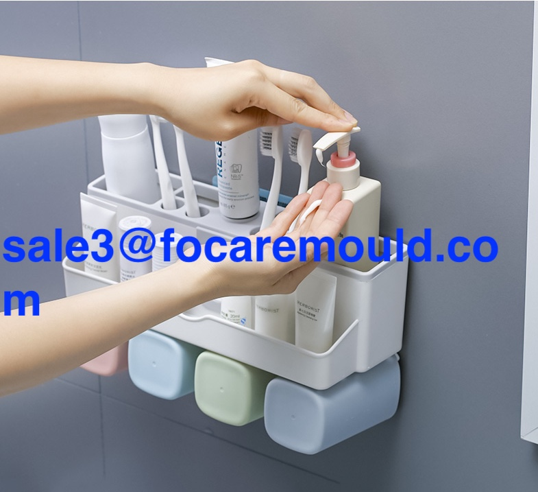 Wall mounted toothbrush holder plastic injection mold