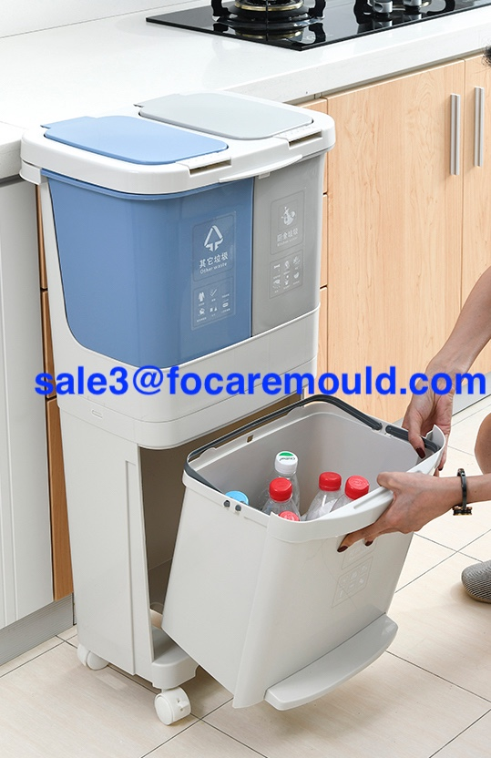 Sorting trash bin plastic injection mold