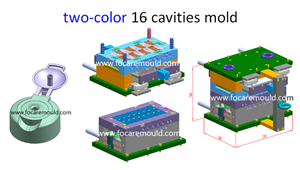 Flip-top cap plastic injection mold