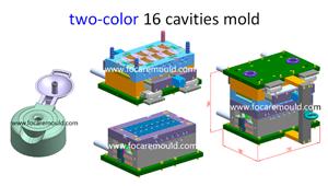 Flip-top cap plastic injection mold