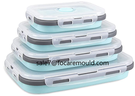 Two-color collapsible containers